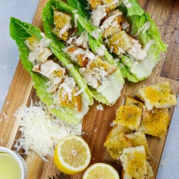 Chicken Caesar Salad boats