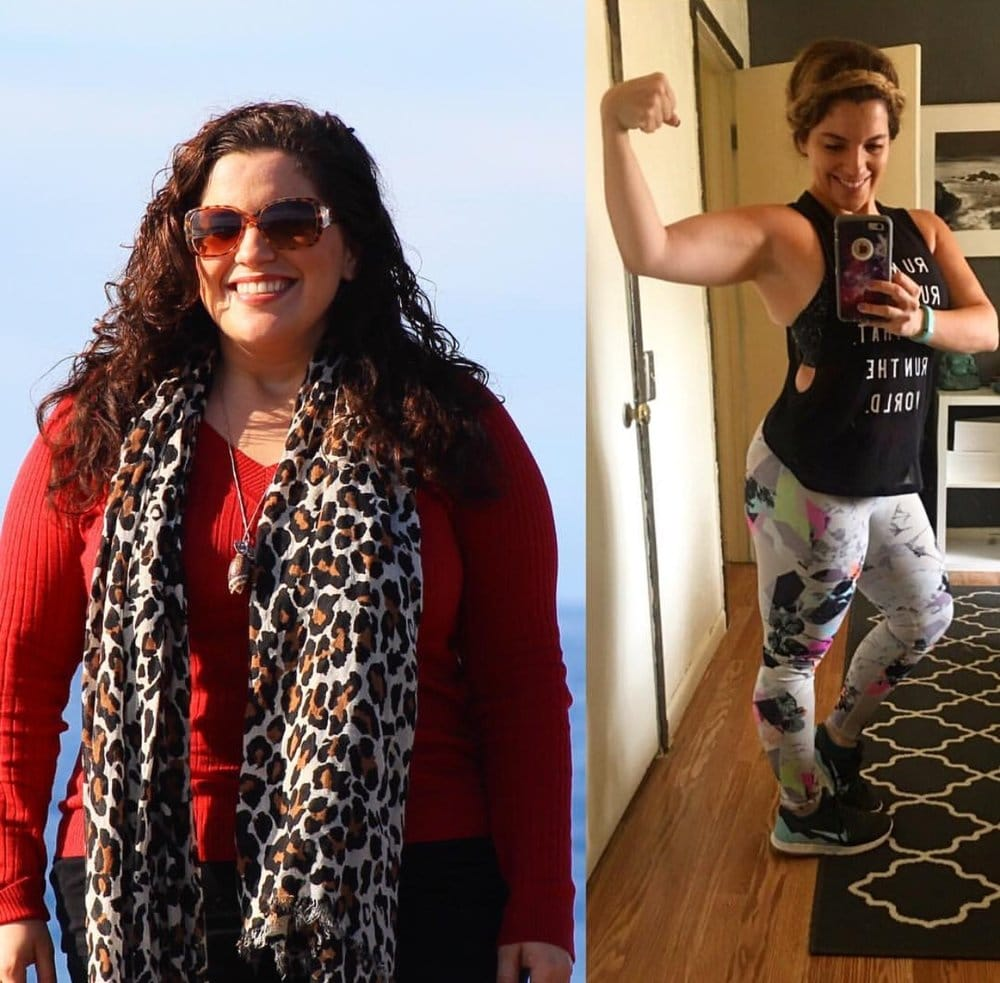 280 on the left and over 155-pounds lost to date. Although I don't weight myself anymore, I keep track of my weight by how my clothes fit.