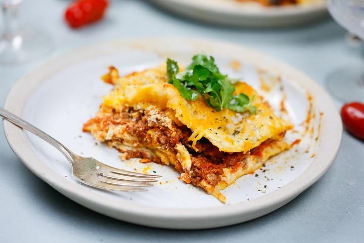 Easy, lasagna, cheesy, beef quick