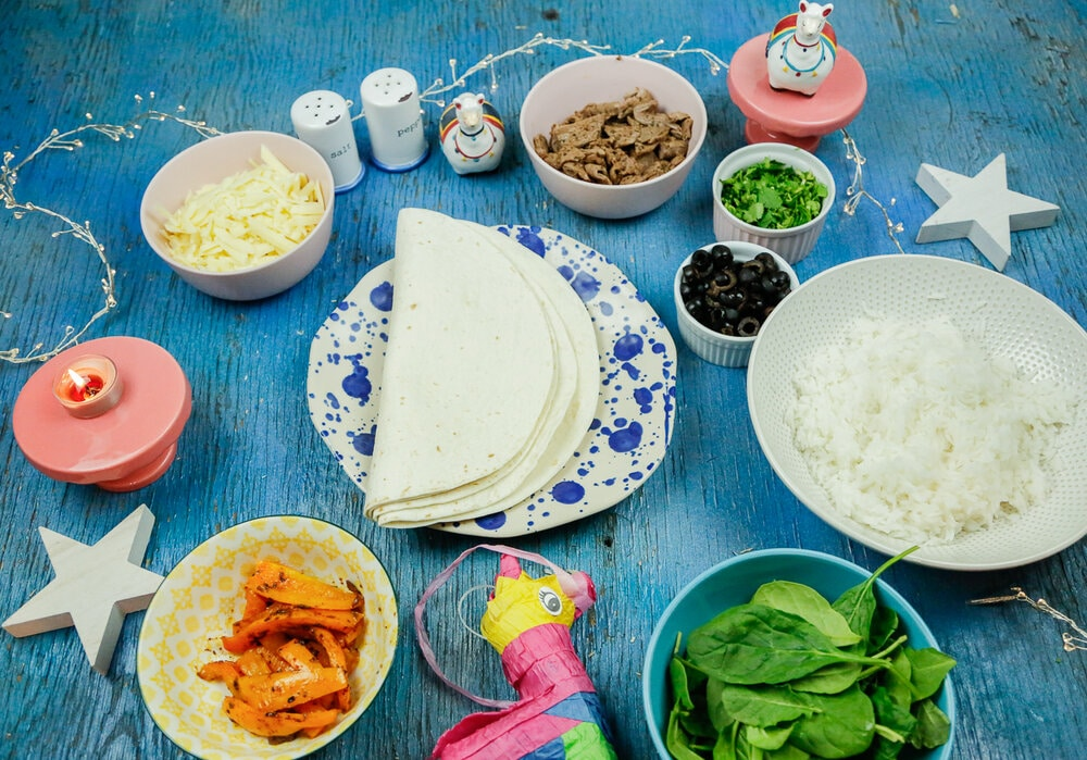 Carne Asada, burritos, Jasmin rice, delicious, gooey cheese, easy dinners, easy dinner, leafy greens