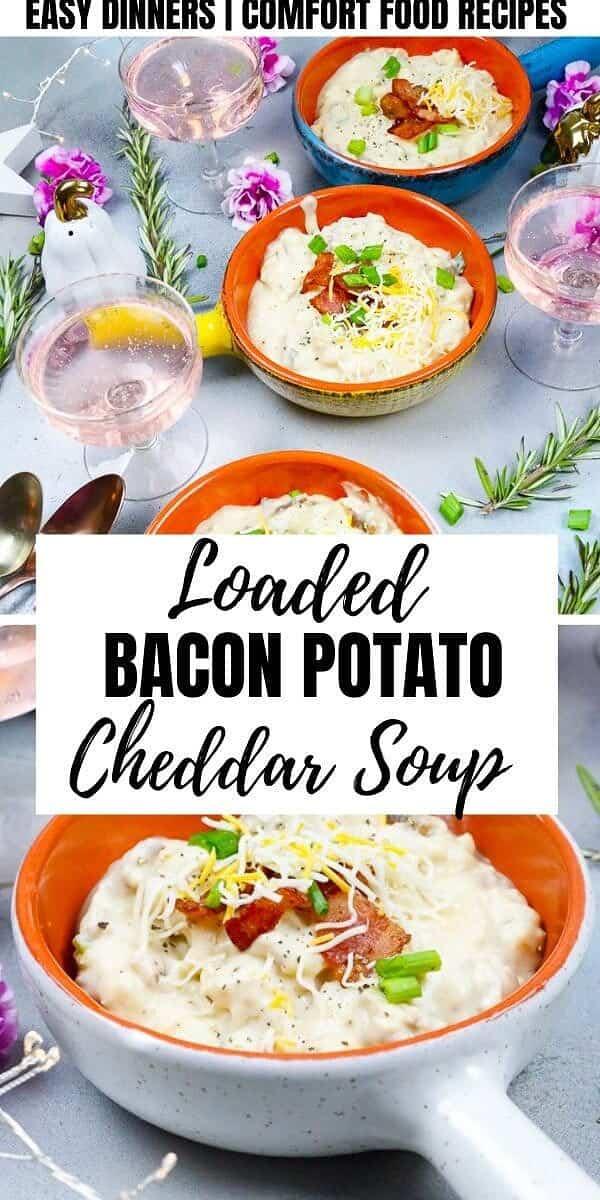 bacon, cheesy, chives, Yukon Gold Potatoes, Potatoes, soup, fall, cozy, cheese, comfort food,