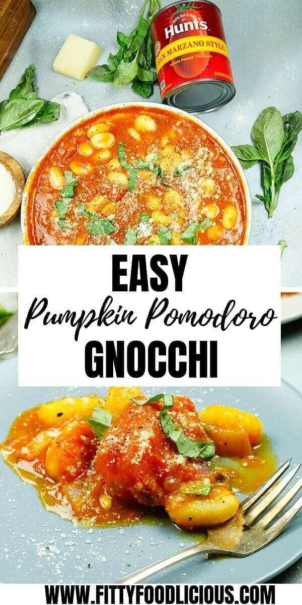 Dinner, Fall, Easy, Pomodoro, Pumpkin, Gnocchi, Marzano Style Tomatoes, Hunt's