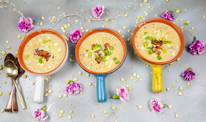 Easy Corn Chowder, Corn Chowder, Soup, Fall Recipes, Corn, Bacon, Bacon Grease, chowder soup, October