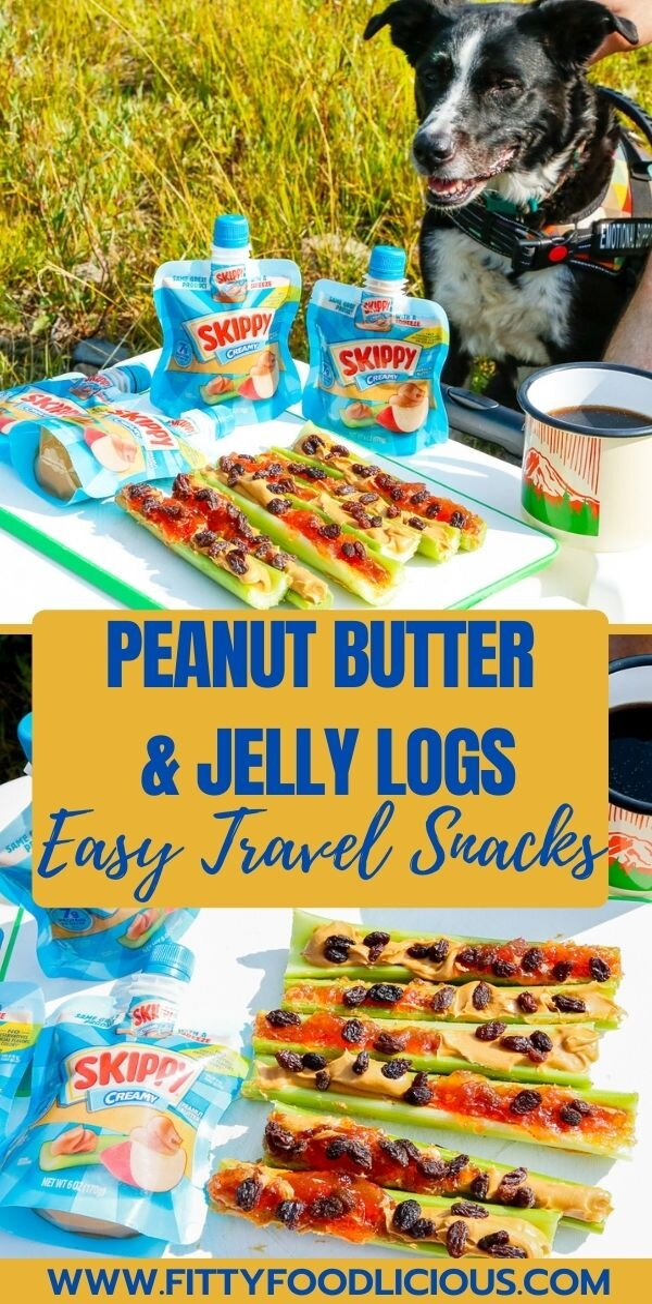 Peanut Butter, Peanut Butter And Jelly Logs, Skippy Peanut Butter, Healthy Snacks, Easy Snacks, Celery, Ants on a log