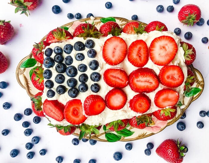 Berry Flag Shortcake Healthy