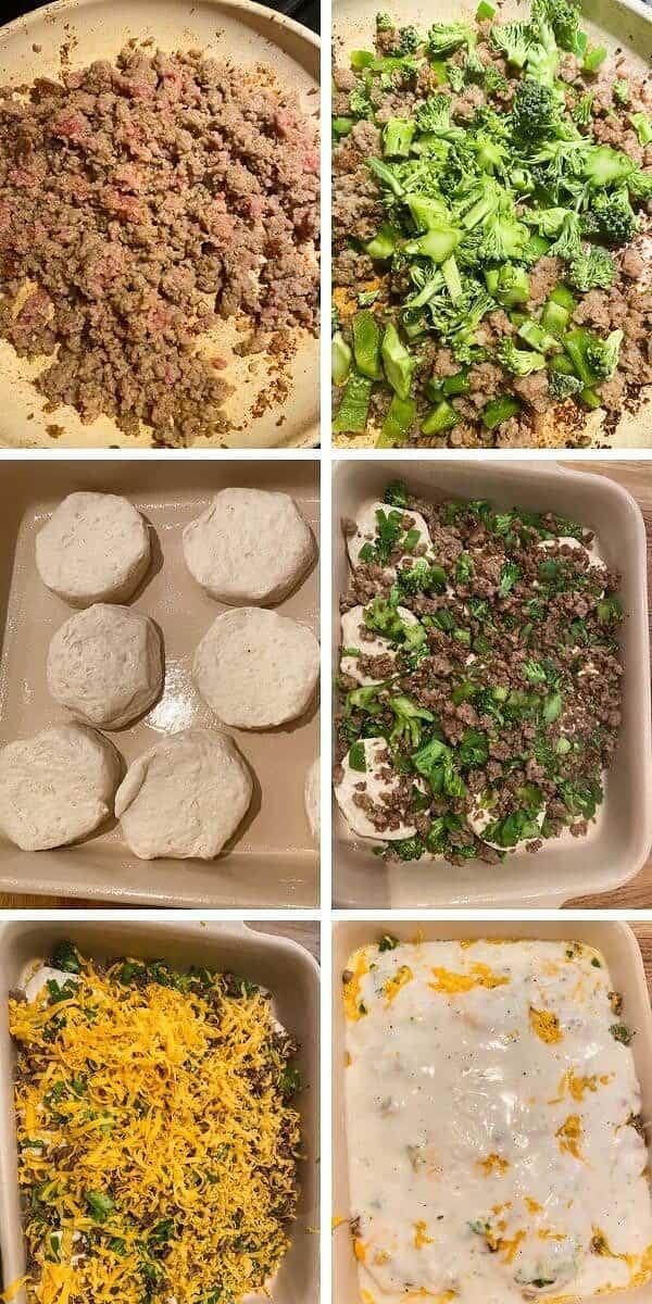 healthy biscuits and gravy veggie casserole, biscuits and gravy casserole, biscuits and gravy, country gravy