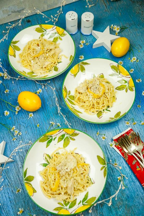 One Pot Creamy Lemon Chicken Pasta