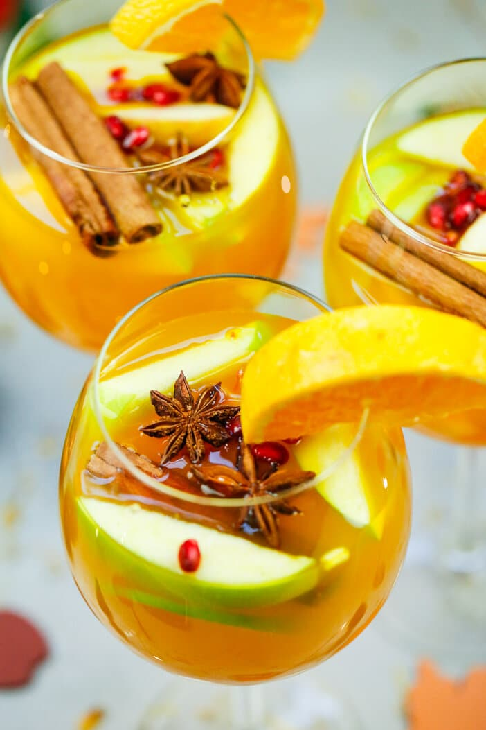 Pear and apple Cider Sangria