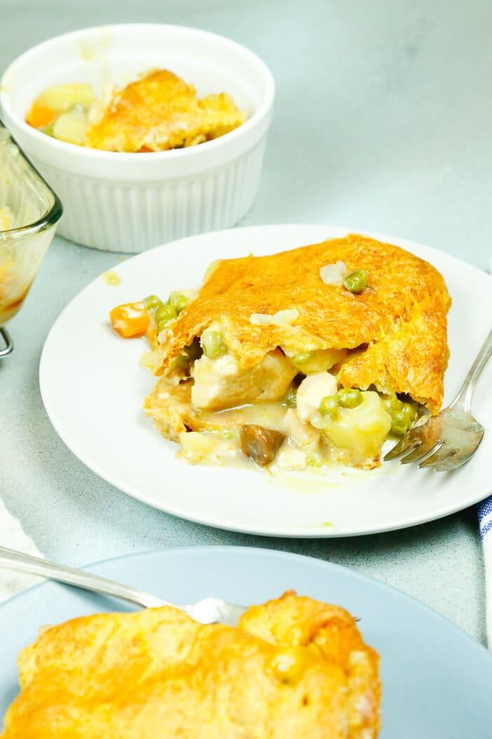 healthy chicken, chicken potpie, potpie, October, comfort food, fall