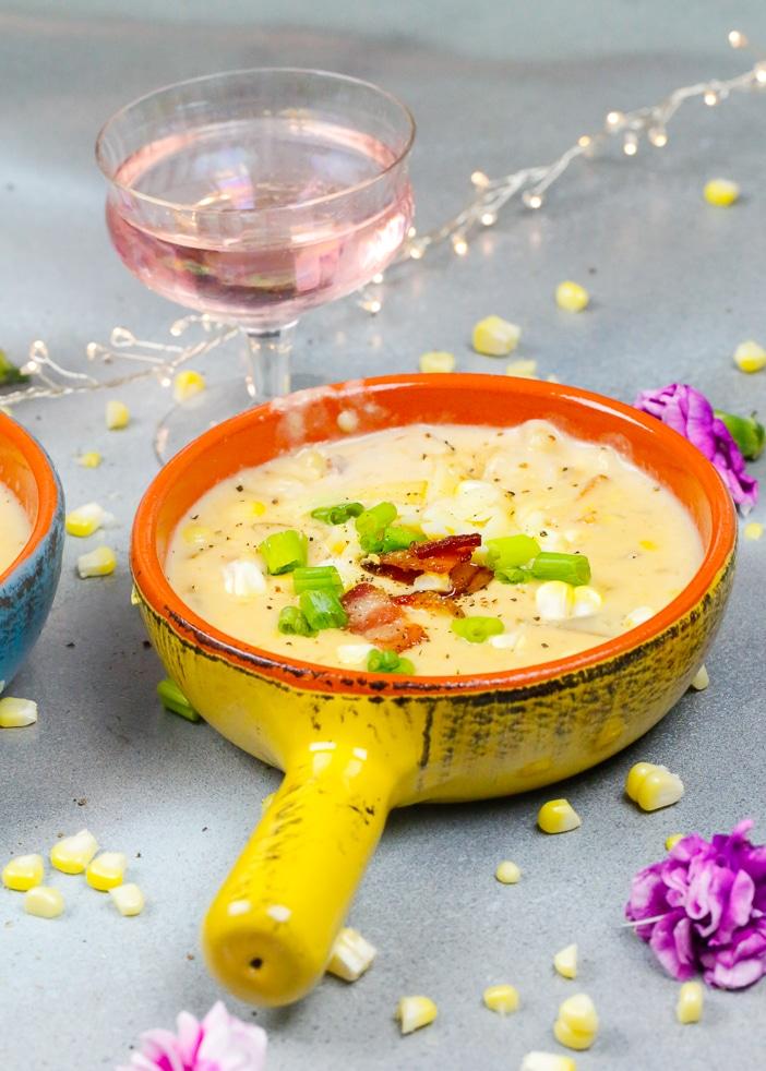 Chowder, Soups, October, Fall Corn Chowder