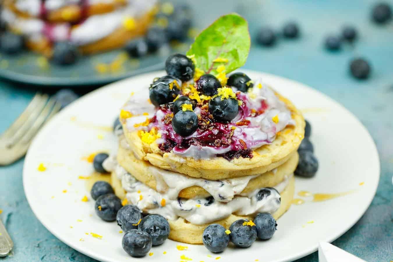 Blueberry Waffles Casserole