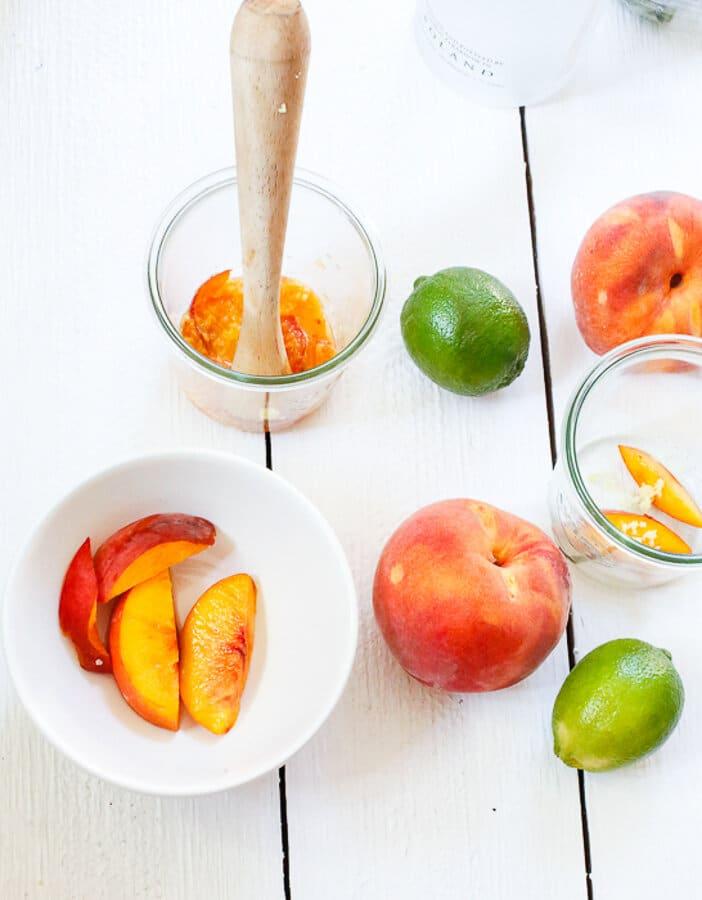 Basil, blueberry, peach, vodka spritzers, Memorial Day, Summer, cocktail, Mocktail