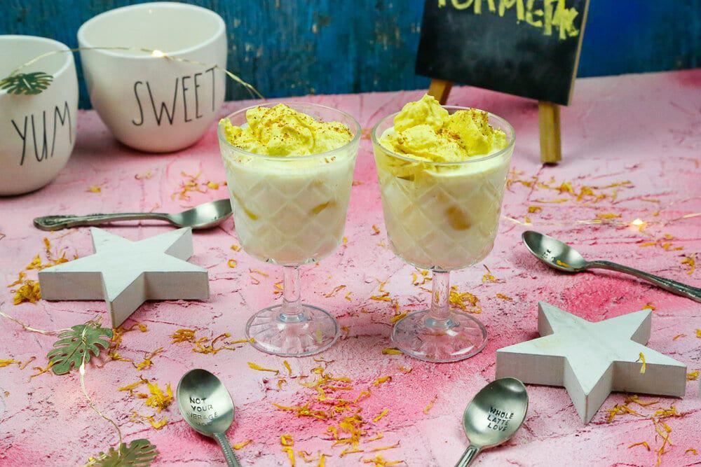Whipped turmeric latte, golden milk, golden milk drink, golden milk latte, summer, turmeric, anti-inflammatory