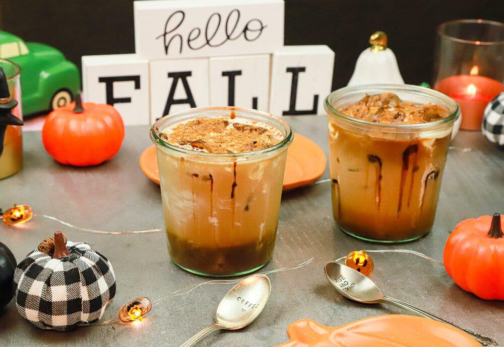 pumpkin pie, cold brew, coffee, iced coffee, bulletproof coffee, fall, autumn, pumpkin pie syrup, pumpkin