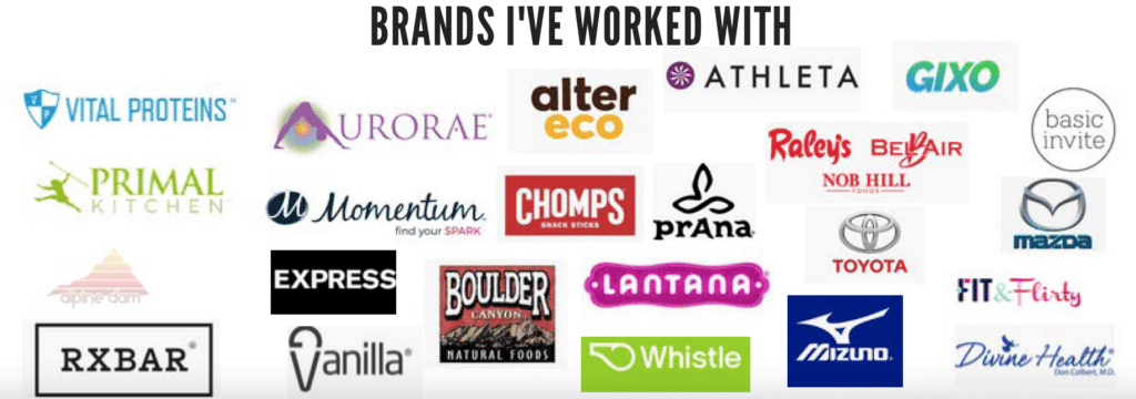 Brands I've worked with.