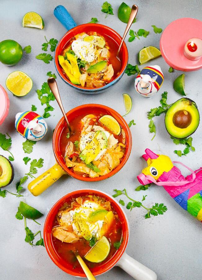 Slow-Cooker, Chicken, Tortilla Soup, Easy Slow-Cooker Soup, fall recipes, chicken tortilla soup, soup, cozy recipes