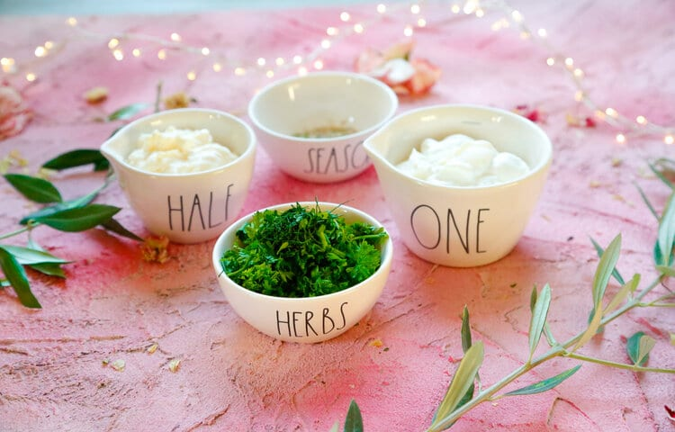 Homemade Ranch Dressing, Ranch Dressing, Ranch, Dip, Chips and Dip, Easy ranch dressing, fresh herbs
