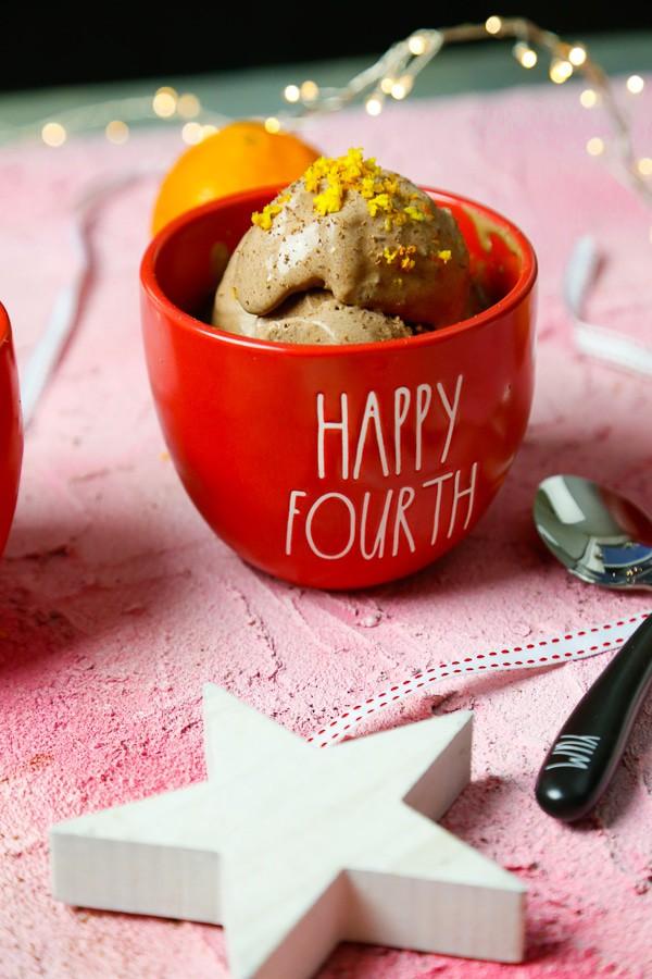 Homemade chocolate orange ice cream, chocolate ice cream, orange, orange ice cream, summer, gelato, Italy, at home, dessert