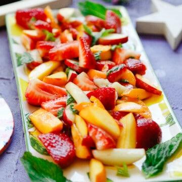 mint honey stone fruit salad