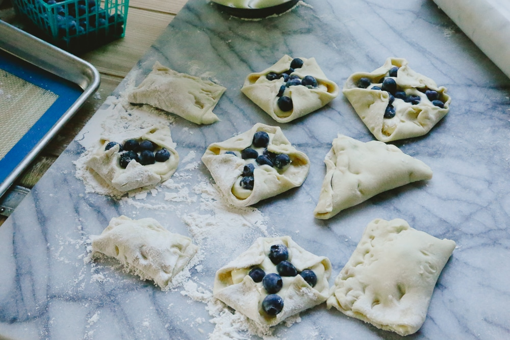 Easy Blueberry Turnovers